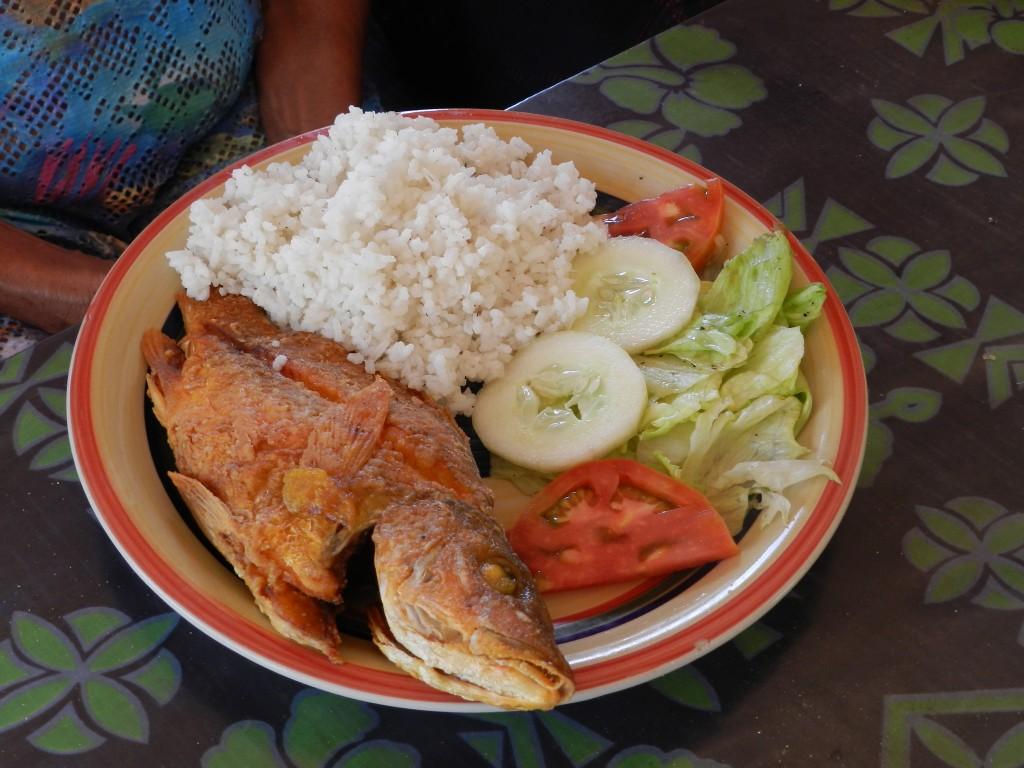 Almoço na Isla Iguana