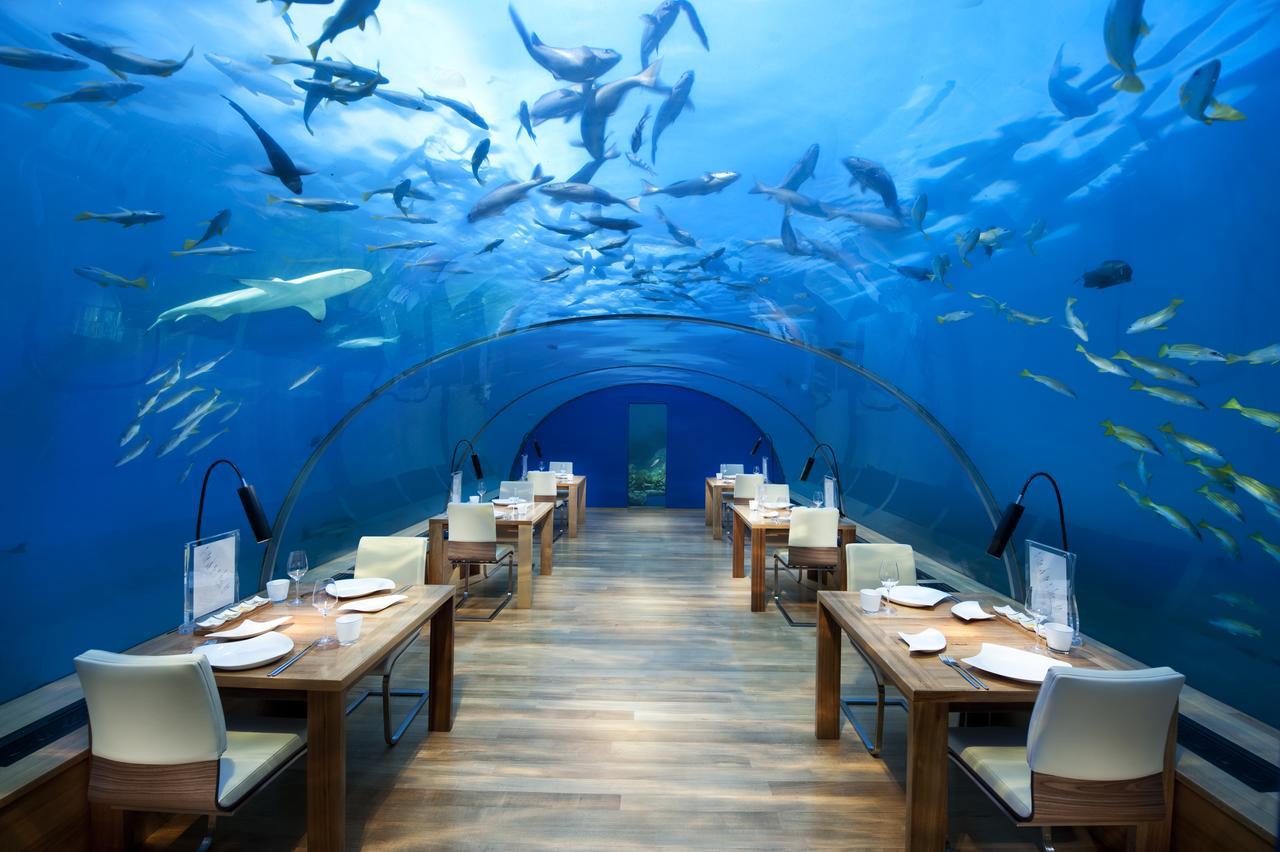 Restaurante do hotel Conrad, Maldivas