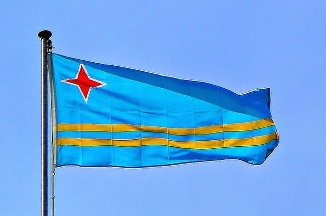 dicas de aruba - bandeira de aruba