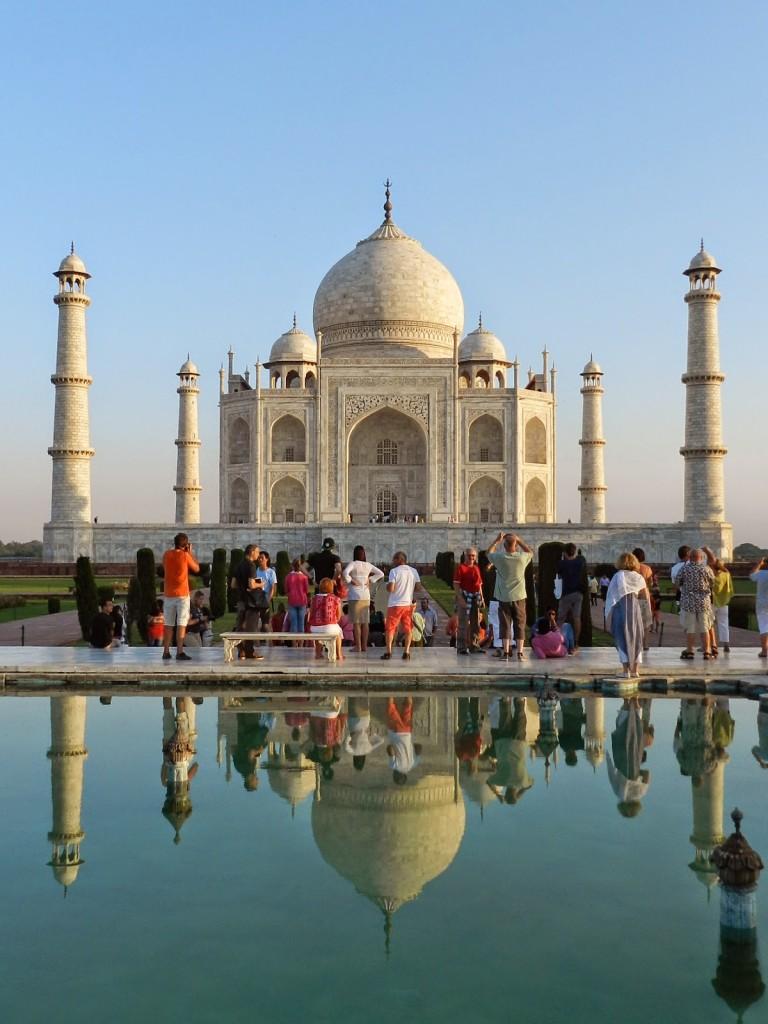 O Taj dourado, com a luz do sol. LINDO!!!