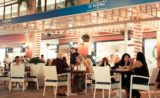 07 paseo herencia shopping mall le bistro - onde comer - dicas de aruba