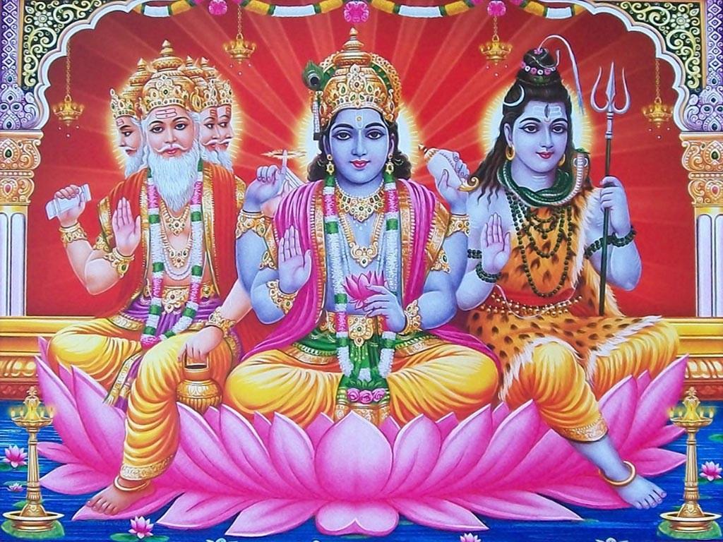 deuses indianos shiva vishnu bramha