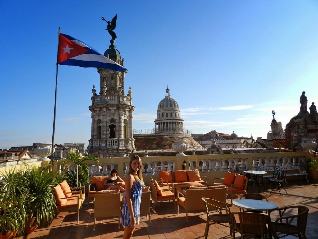 Terraço do Hotel Inglaterra | Vista linda da cidade. Ao fundo: Gran Teatro de Habana & Capitólio