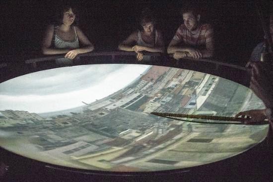 Cámara Oscura de Havana, com a cidade em tempo real projetada