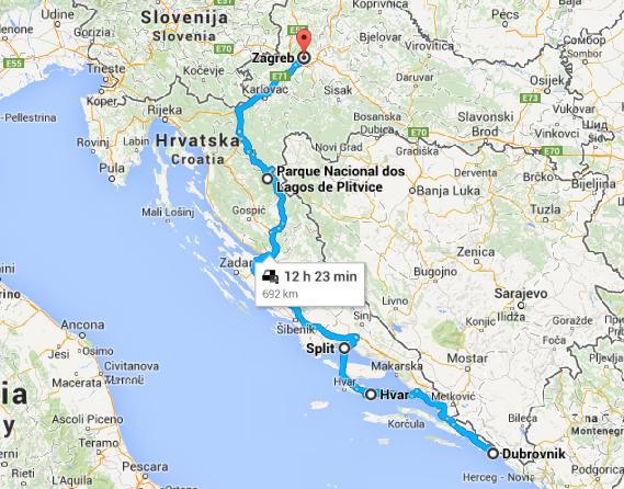 Roteiro viagem de carro pela Croacia