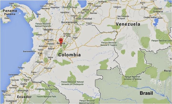 dicas de bogotá - mapa colômbia