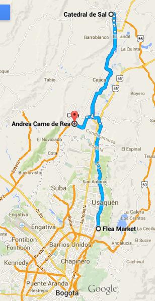 23 Mapa chia zipaquira como chegar - turismo em bogota - dicas de viagem colombia