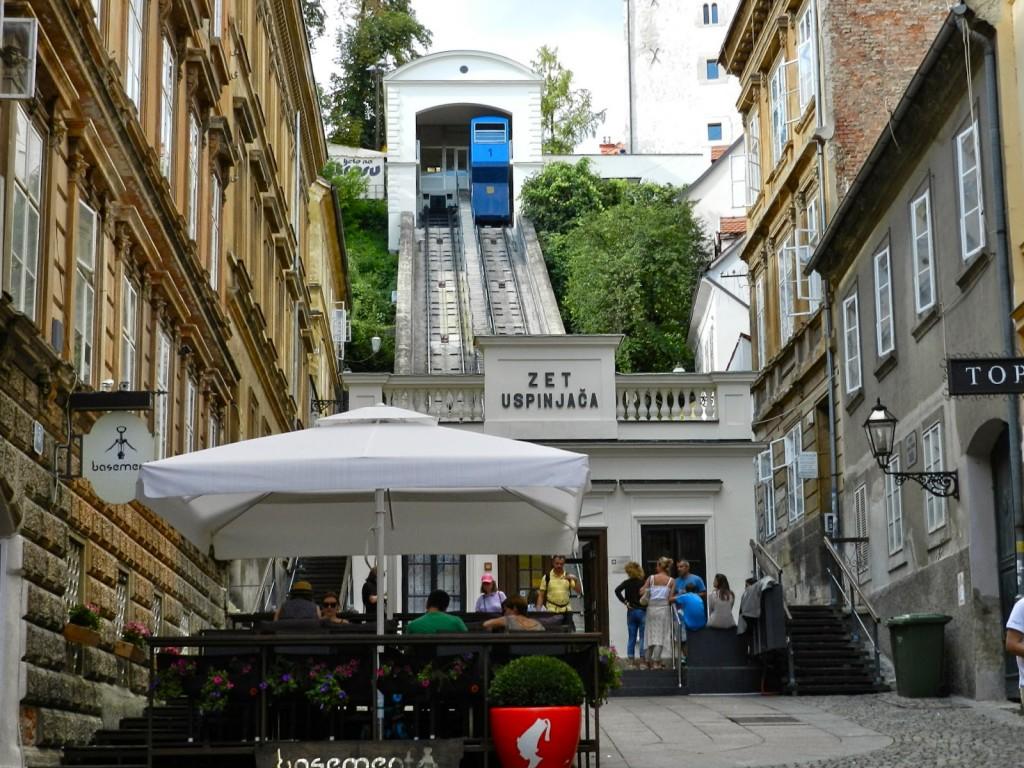 Estação do funicular na Cidade Baixa