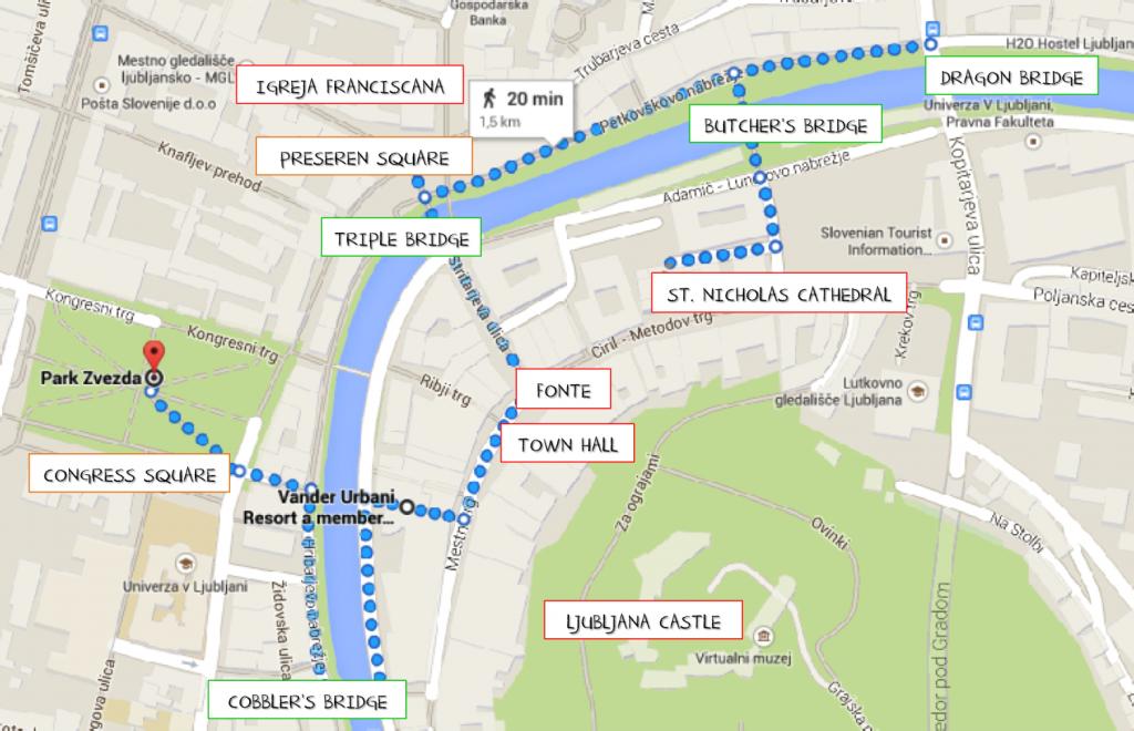 23 MAPA pontos turísticos roteiro - o que fazer em ljubljana eslovenia - dicas de viagem