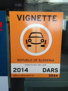 VIGNETTE slovenia eslovenia viagem de carro
