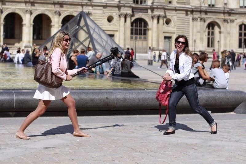 A guerra: GoPro (Teca) vs. Don't Go (minha Nikon) hahaha