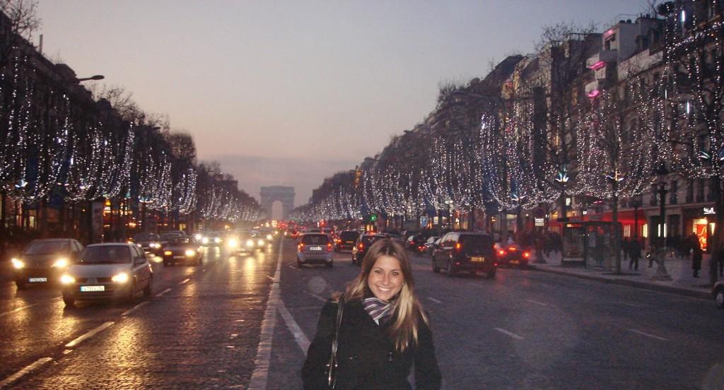 Champs Elysées decorada para o Natal de 2008