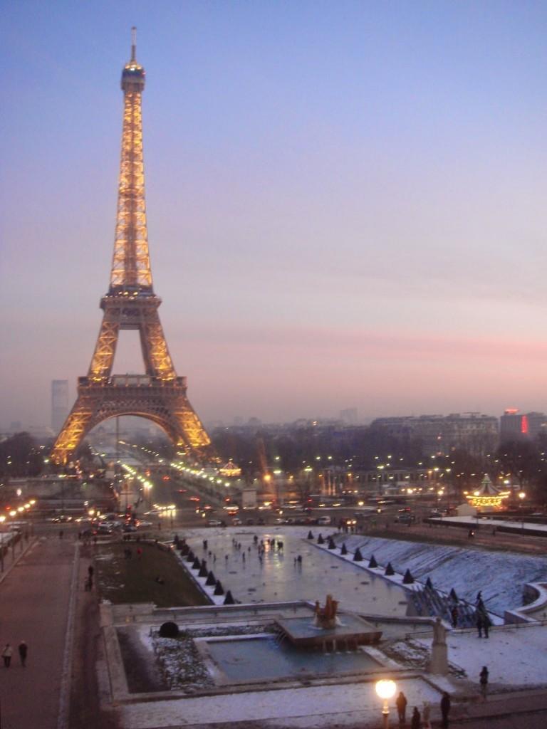 Jardin du Trocadéro (fonte congelada - inverno 2009)