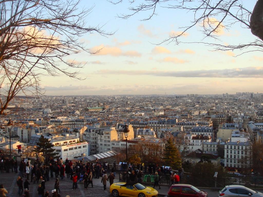 Vista lá de cima do Butte de Montmartre. Paris, sua linda!!!