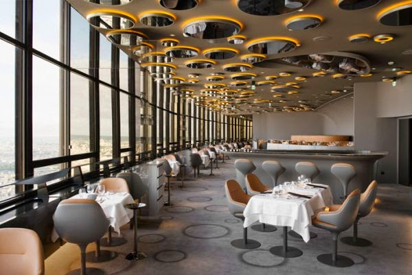 Restaurante Le Ciel de Paris, no topo da Tour Montparnasse | foto: homedit.com
