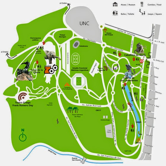 Mapa do Parque General San Martín - enorme! | fonte: site do parque