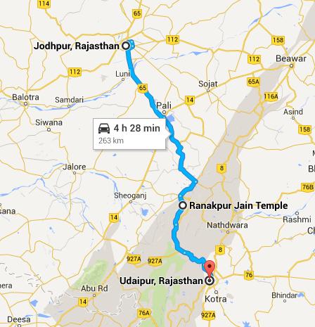 como chegar udaipur estrada