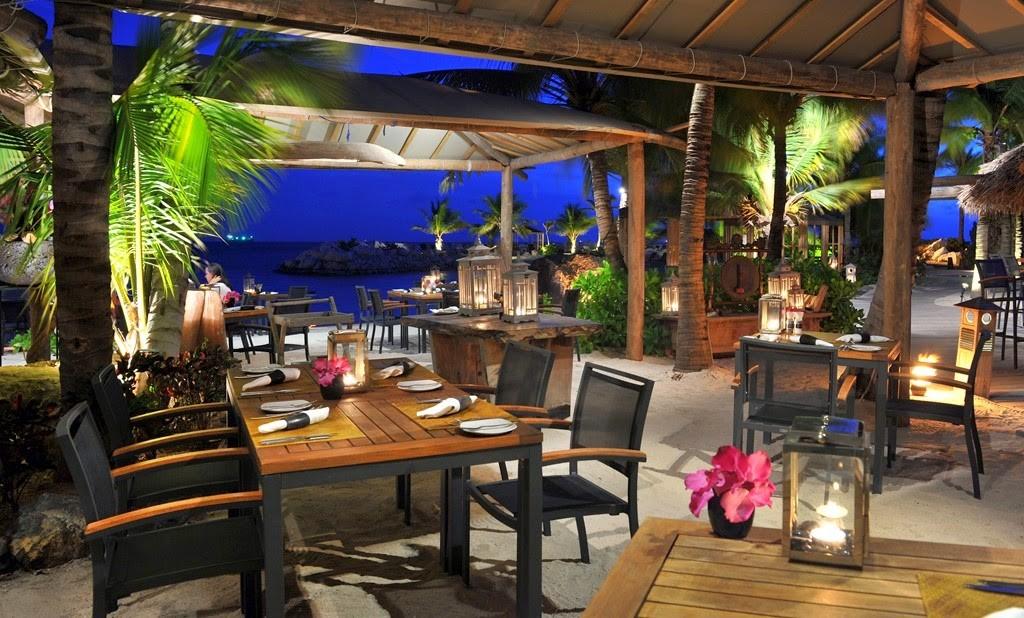 Restaurante do hotel Baoase em Curaçao