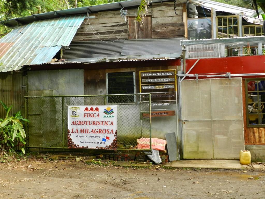 A sede da finca, tudo feito/construído/reciclado por Seu Tito