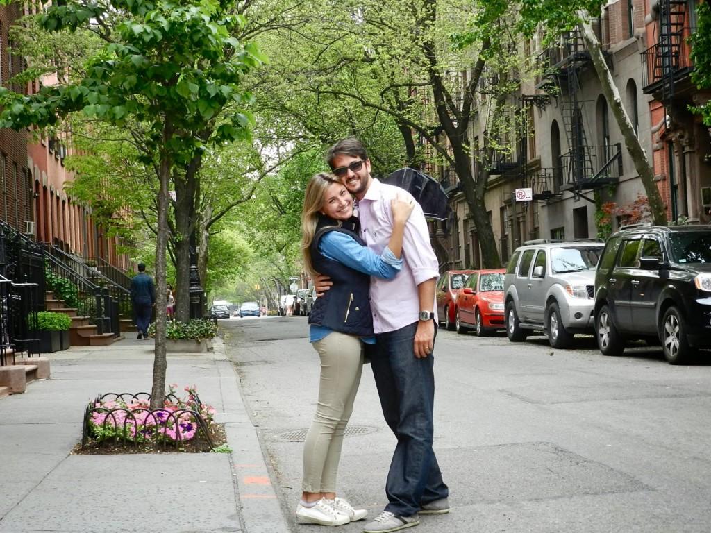 Nos arredores da Bleecker Street, em West Village, NYC