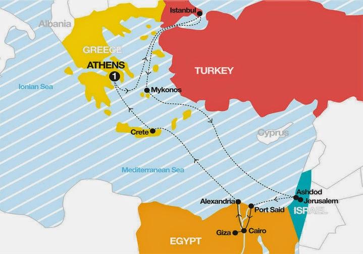 roteiro cruzeiro mar mediterrâneo