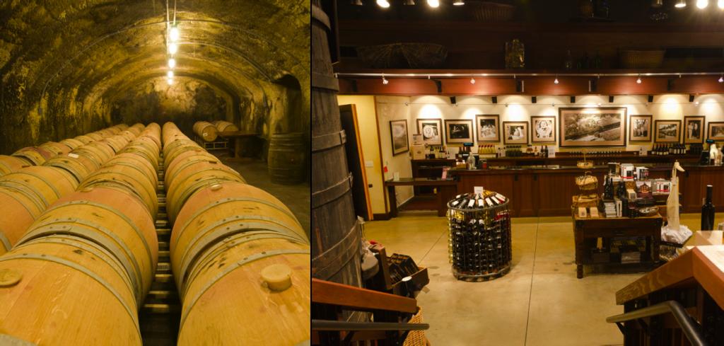 Os túneis subterrâneos para armazenamento de vinhos e a Old House - Beringer | fotos: beringer.com