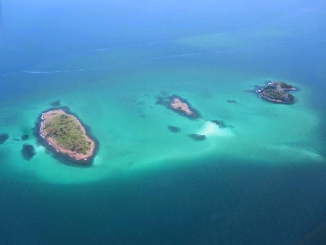 Vista aéra - Arquipélago de Las Perlas | foto: contadorapanama.com