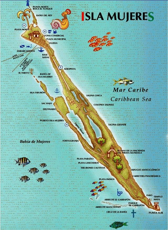 Mapa de Isla Mujeres | fonte: isla-mujeres.net