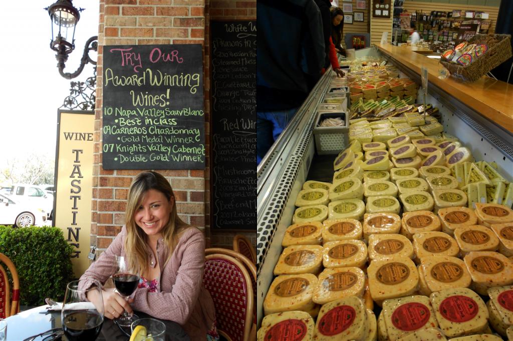 Almoço no restaurante do Ledson Hotel e queijos na Sonoma Cheese Factory - Praça principal da cidade
