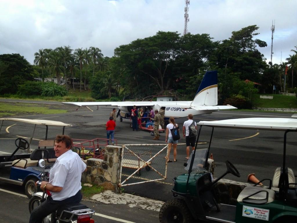 Vôo da Air Panama chegando em Contadora