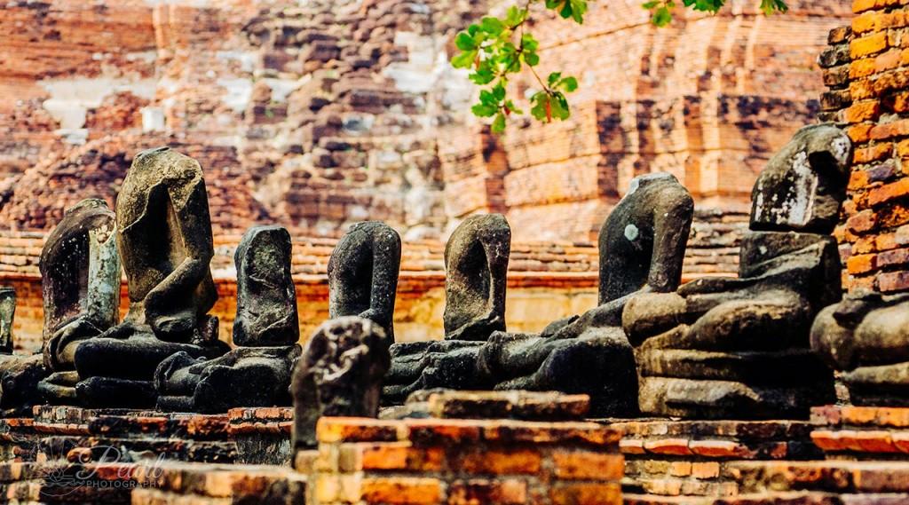 Budas decapitados pelo Exército da Birmânia (Myanmar) | foto: pearlveedor.wix.com