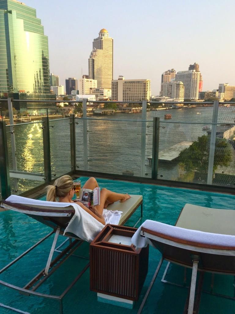 05 Millennium Hilton Hotel Bangkok riverside rio Chao Phraya River - dicas de viagem Tailandia - onde ficar piscina pool