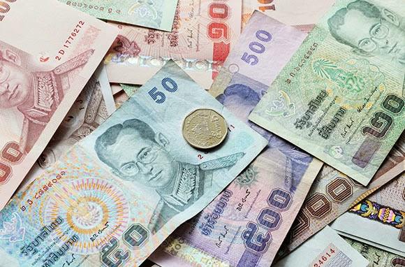 Thai Bahts dinheiro moeda da tailandia