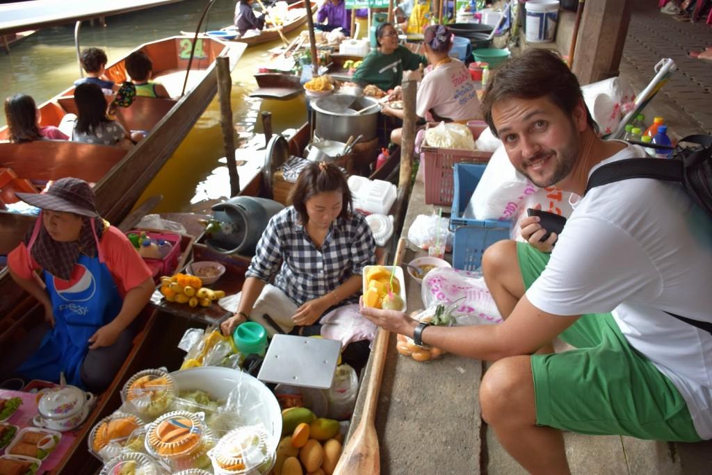 20Comidas tailandesas sticky rice mango manga floating market bangkok 01