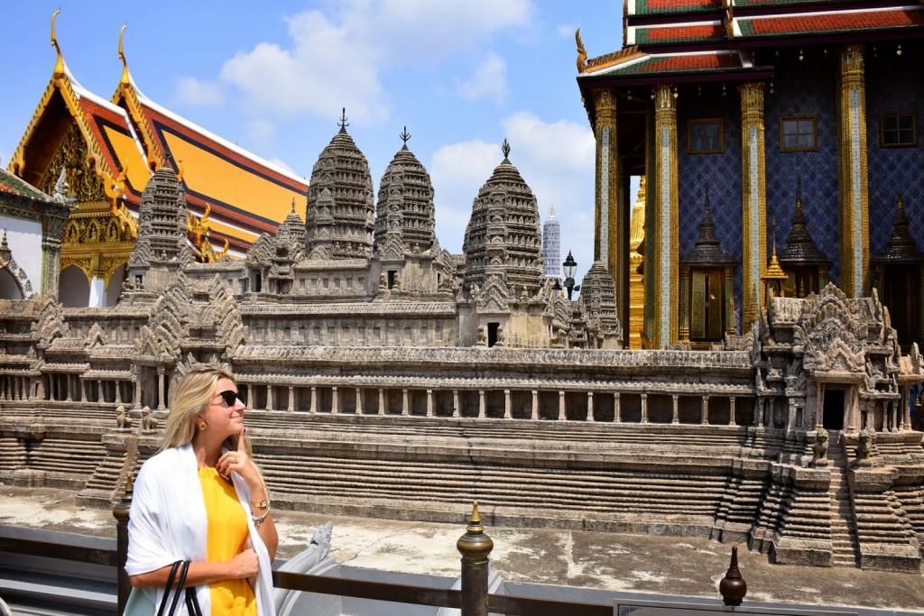 Miniatura do Angkor Wat, que fica no Cambodia. E eu já sonhando com ele, que iria conhecer em alguns dias...