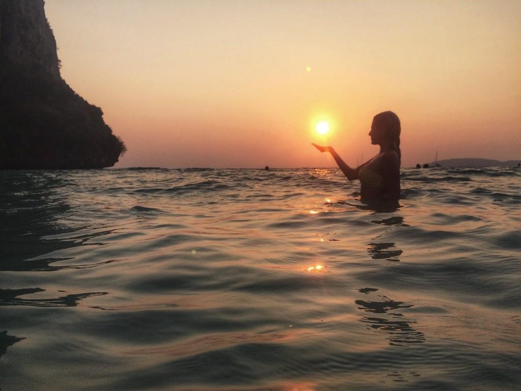 Por do sol em Railay Beach, Krabi