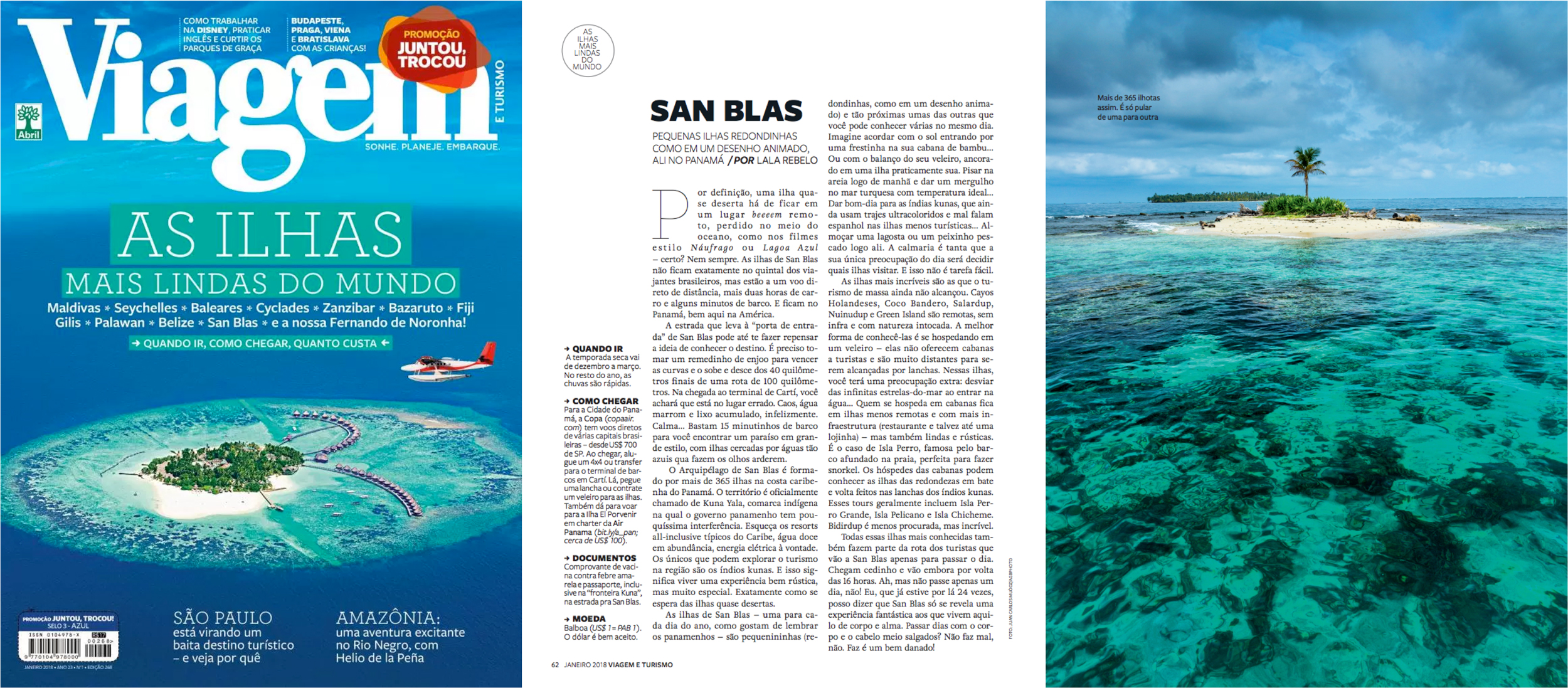 c730a33a50d2 revista viagem e turismo janeiro 2018 as ilhas mais lindas do mundo san  blas panama lala