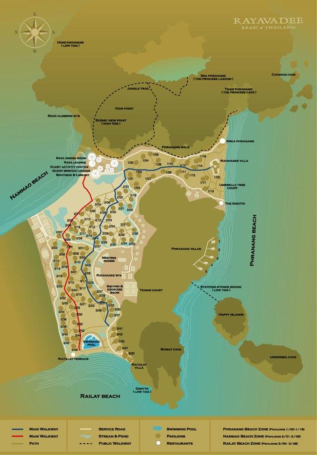 00 mapa rayavadee hotel krabi
