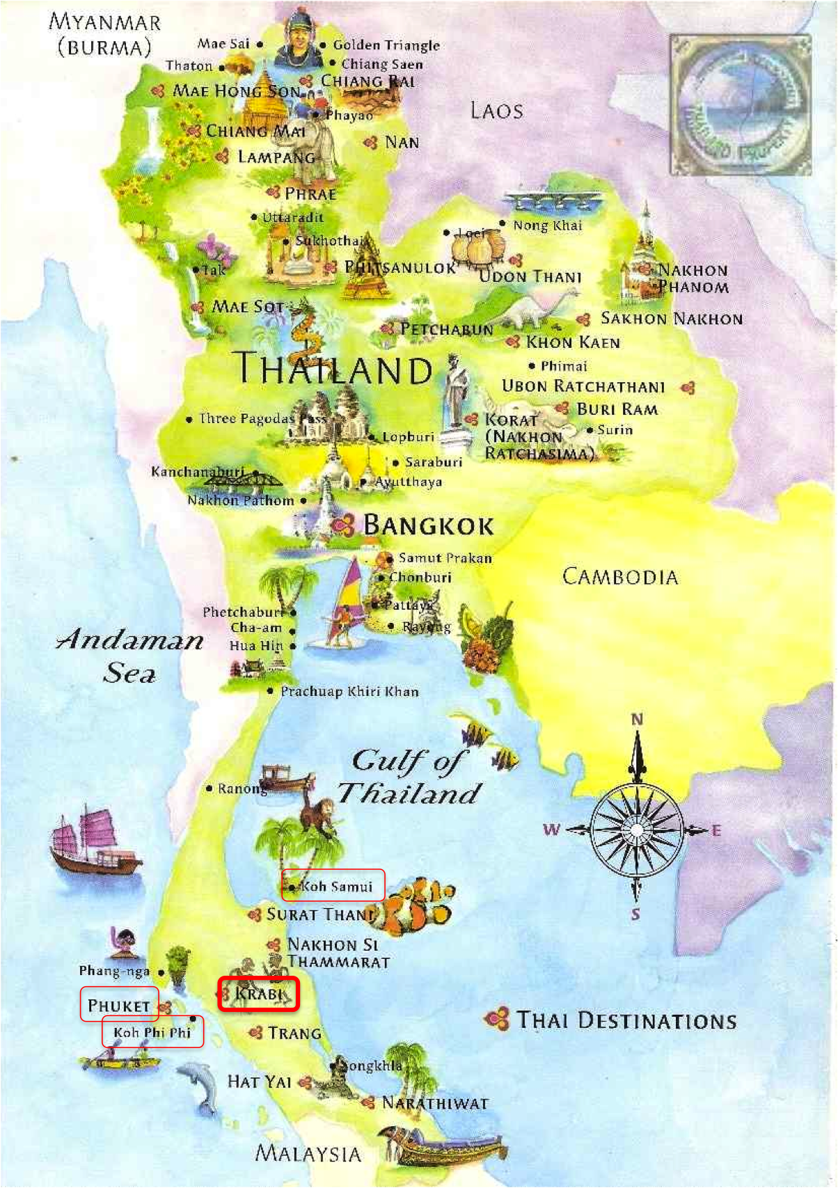 000 map thailand south beaches