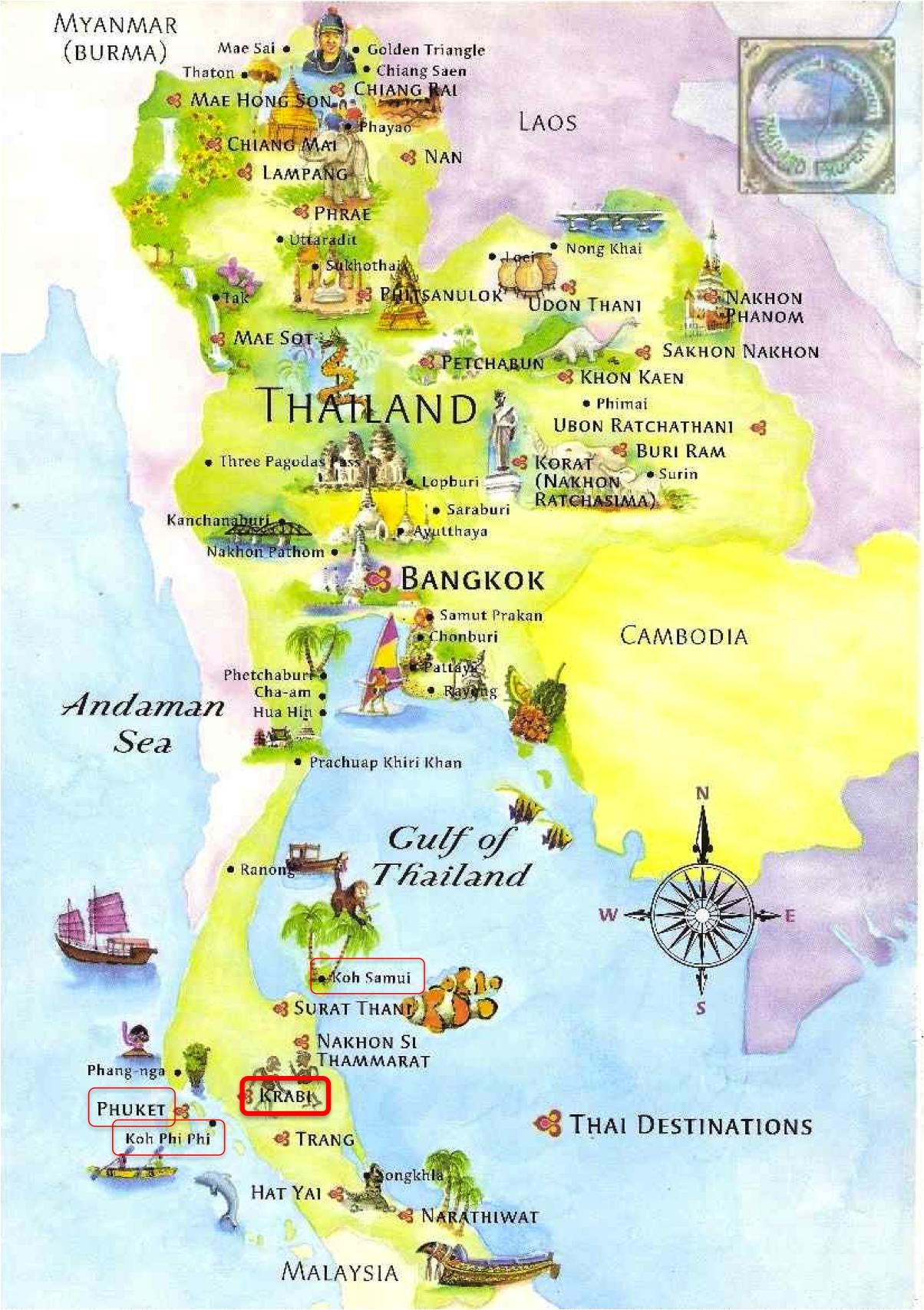 000 map thailand south beaches