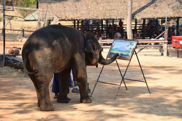 O elefante impressionista