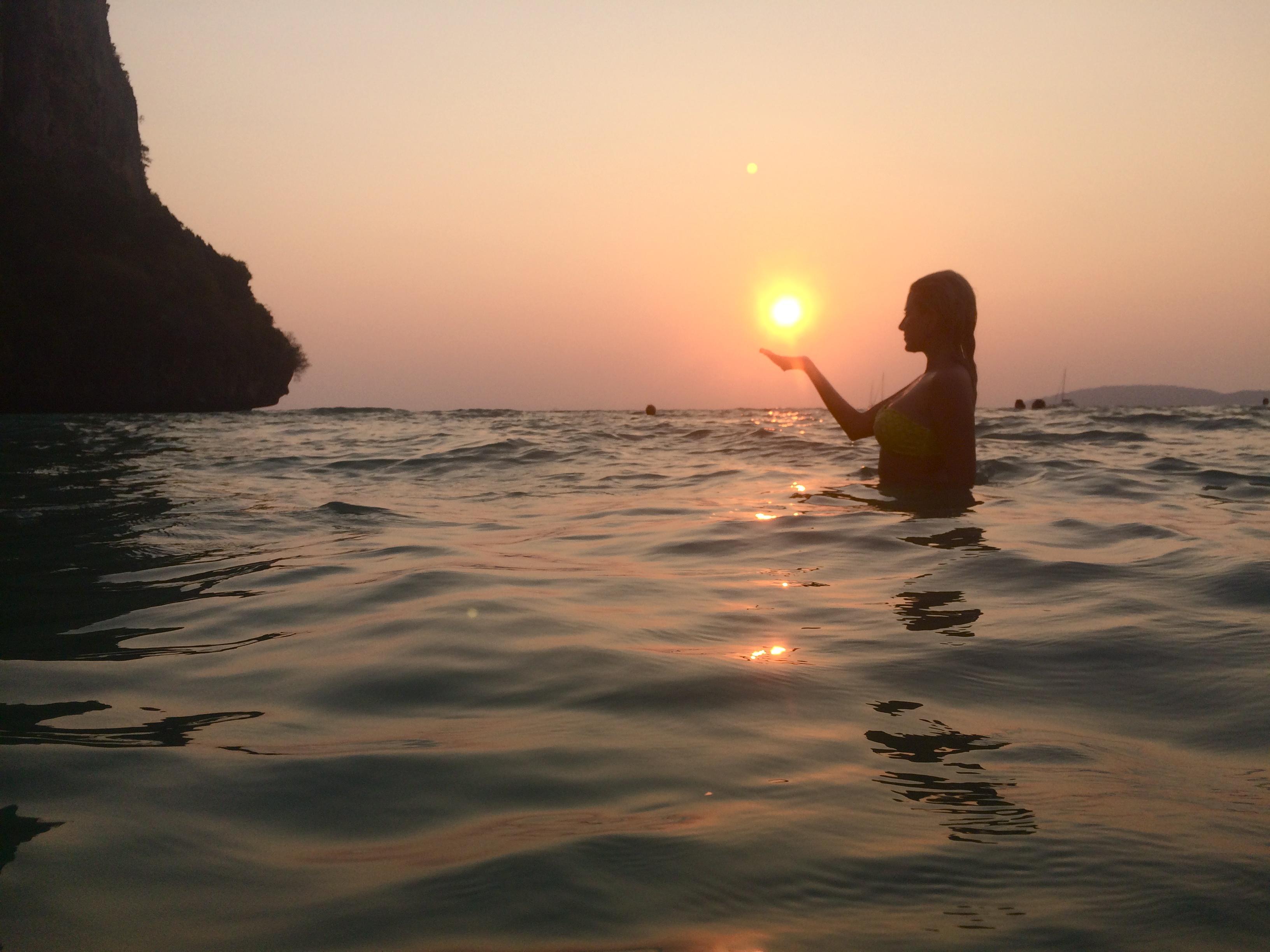 Por do sol em Railay Beach