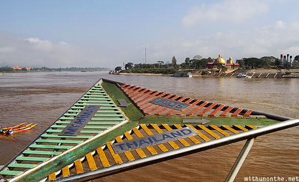 Marco das três fronteiras (Tailândia / Laos / Myanmar) no Rio Mekong | foto: mithunonthe.net