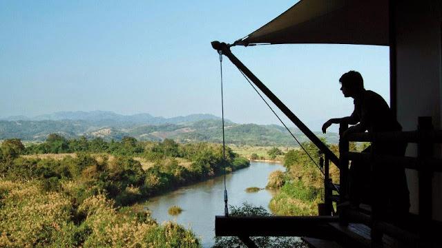 Vista de Myanmar e Laos