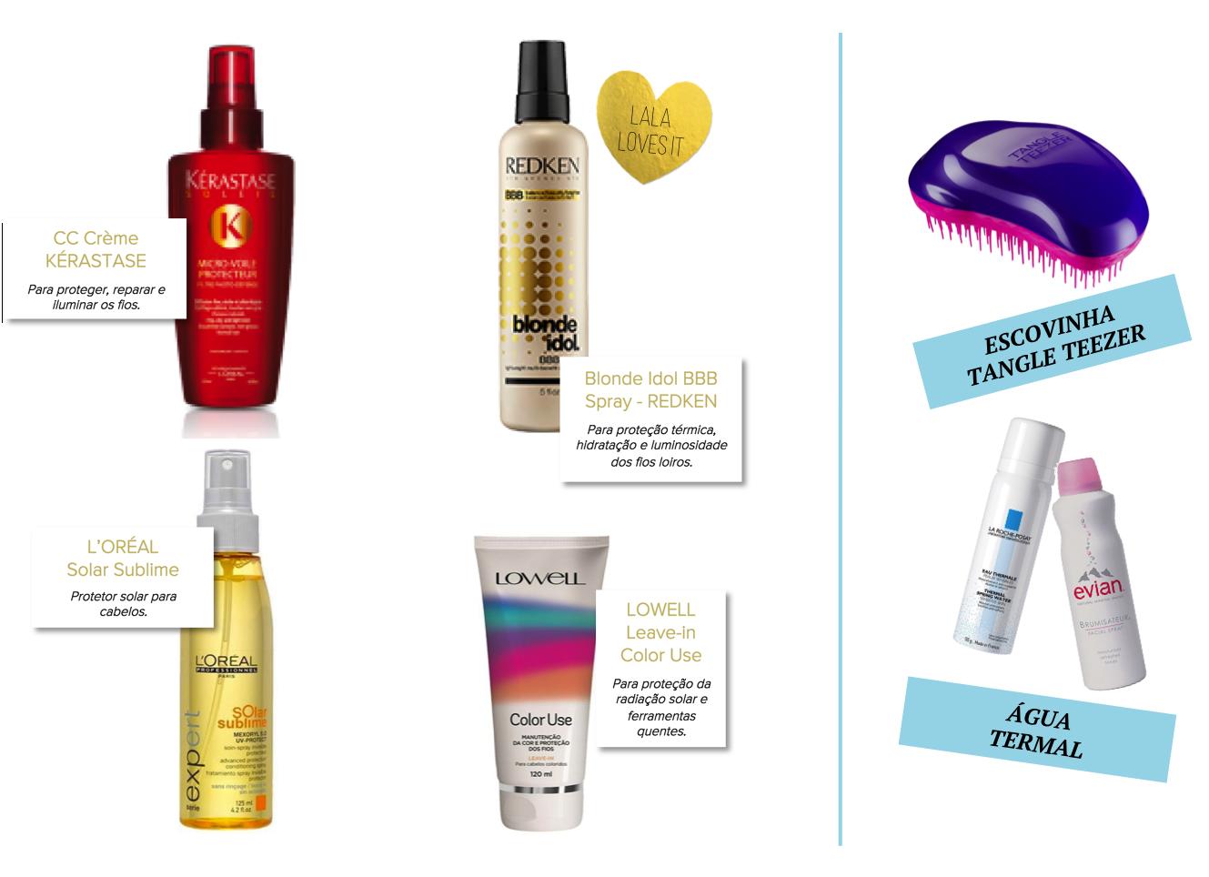DICA 03 protetor solar para cabelos produtos b