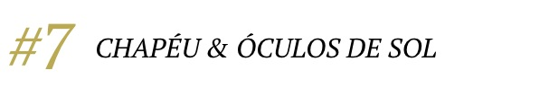 DICA 07 CHAPEU E OCULOS DE SOL