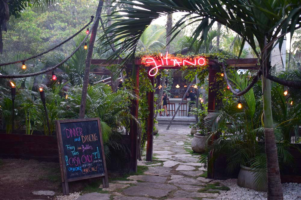 gitano bar and restaurant tulum mexico