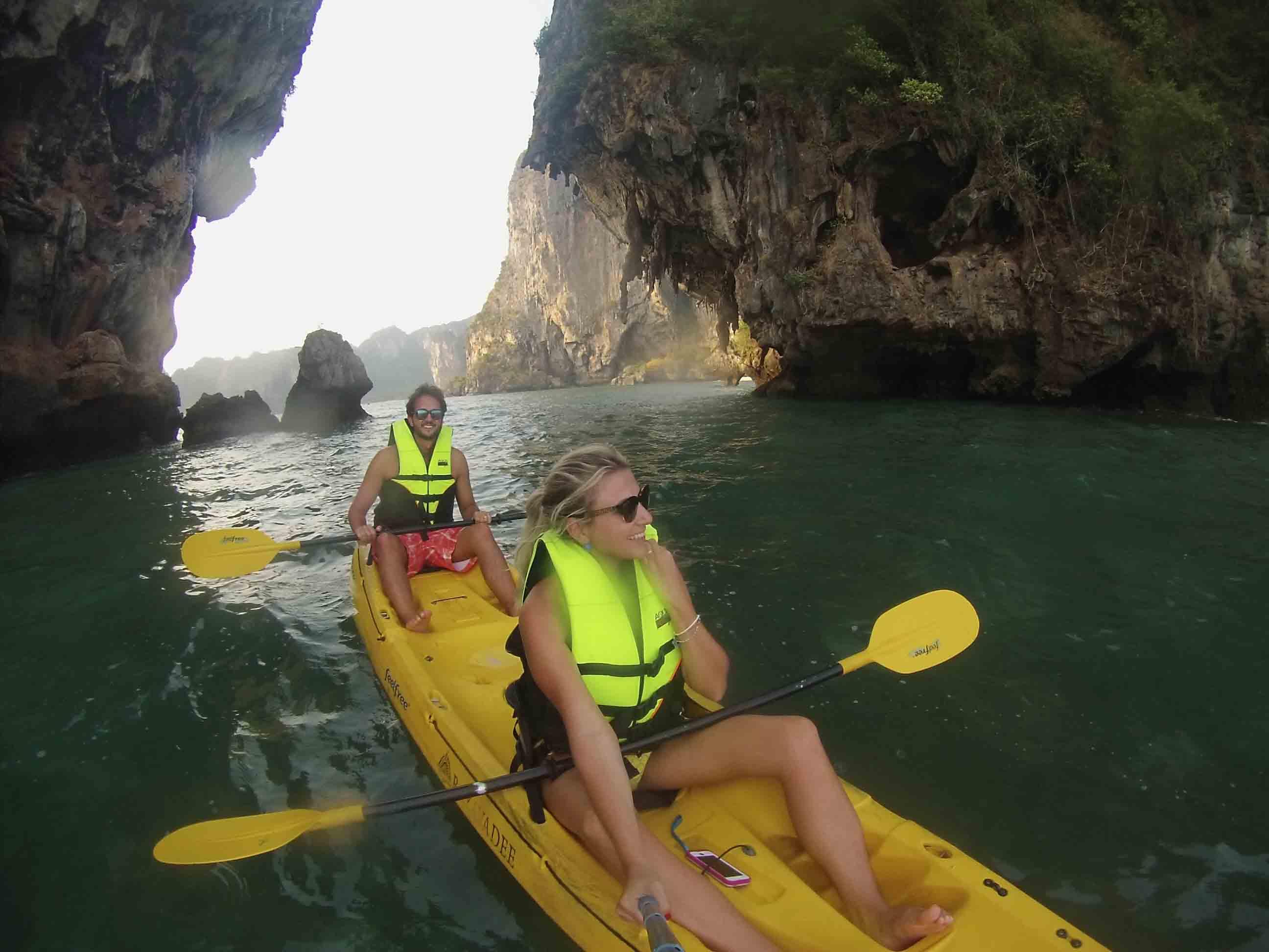 kayak phranang cave beach krabi thailand