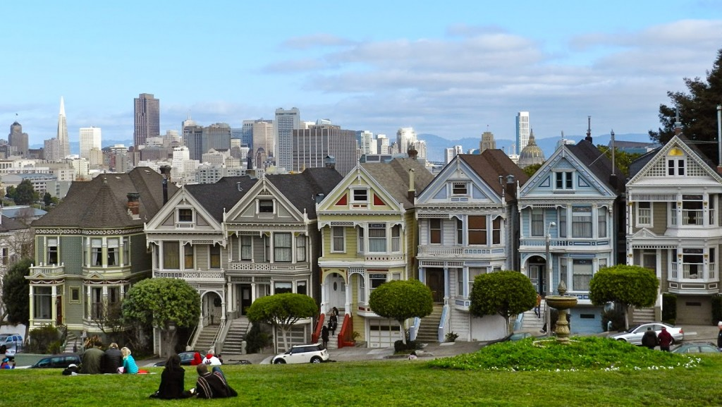 The Painted Ladies, Alamo Square, San Francisco, california