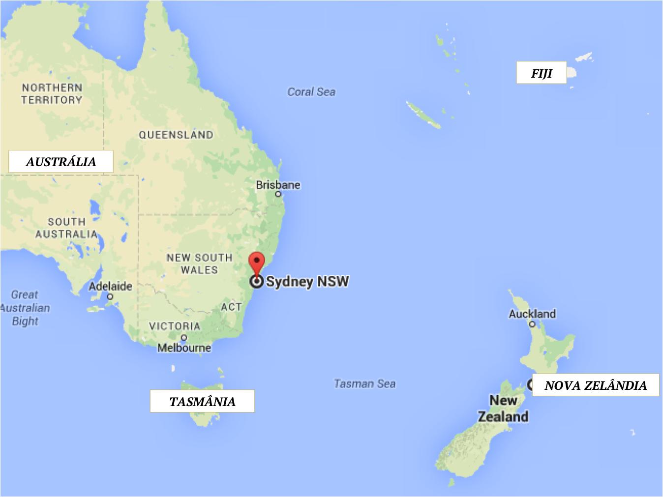 MAPA DESTINO LUA DE MEL AUSTRALIA NOVA ZELANDIA FIJI